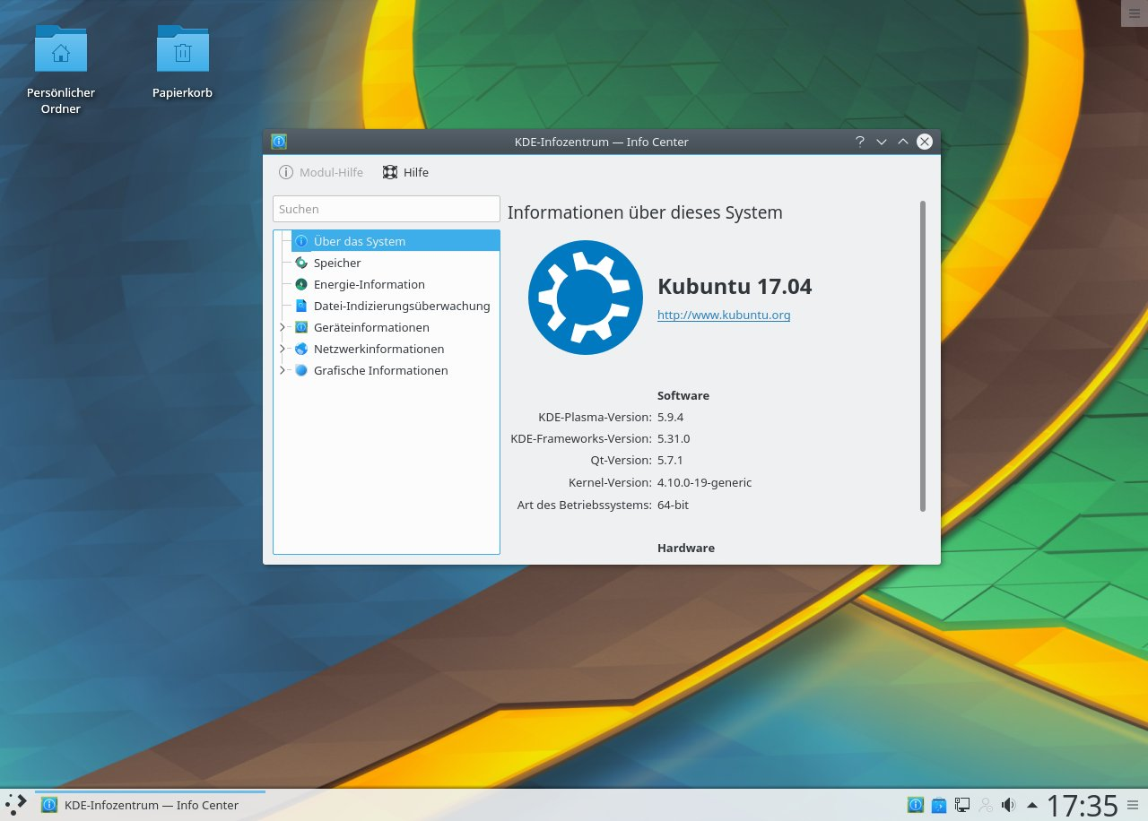 Kubuntu Screenshot Version